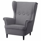 СТРАНДМОН Кресло детское, Висле серый