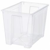 САМЛА Контейнер, прозрачный, 56x39x42 см/65 л
