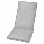 ДУВХОЛЬМЕН Подушка на сиденье/спинку,без чехла, для сада серый, 71x45/42x45 см
