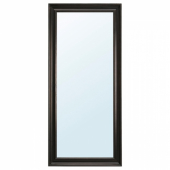 ХЕМНЭС Зеркало, черно-коричневый, 74x165 см
